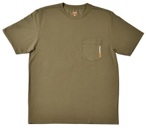 Timberland PRO Men's Base Plate Blended T-Shirt, Olive Green, hi-res