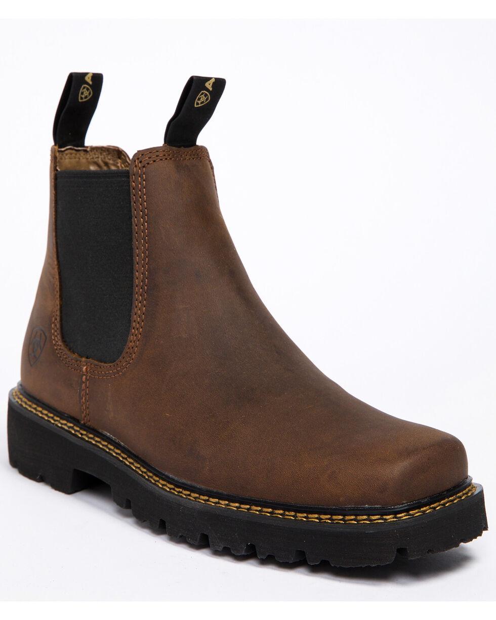 Ariat Men's Spot Hog Distressed Brown Boots - Square Toe, Lt Brown, hi-res