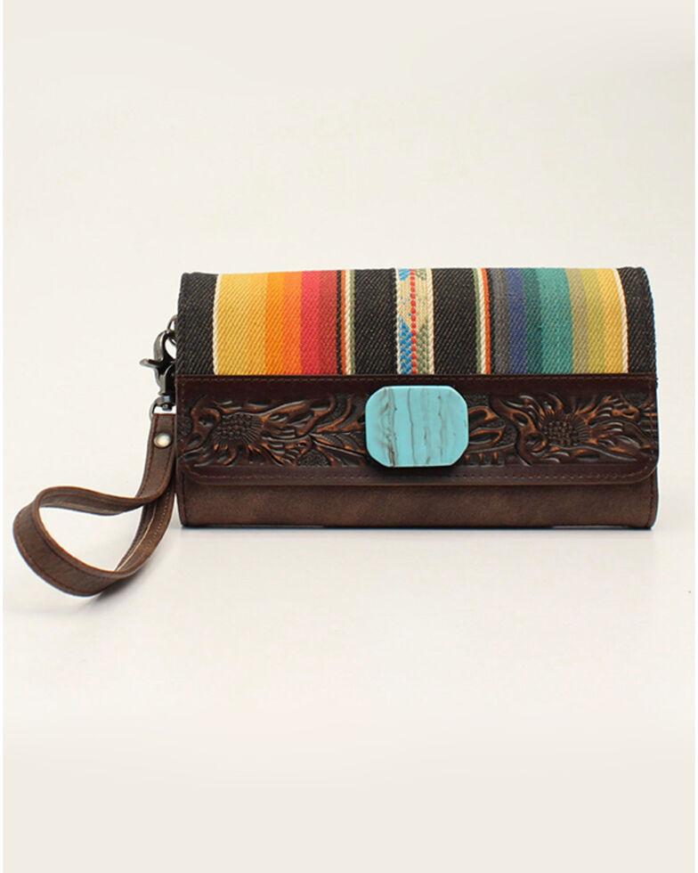 Angel Ranch Women's Serape Clutch Wallet, No Color, hi-res