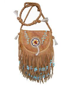 Kobler Leather Women's Rossette Crossbody Bag, Tan, hi-res