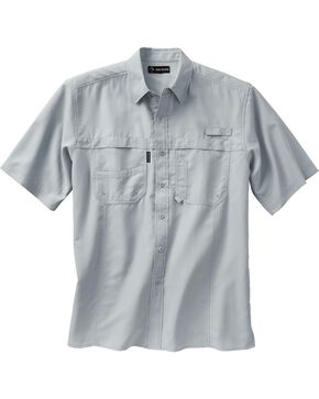 Dri Duck Men's Catch Short Sleeve Shirt, Grey, hi-res