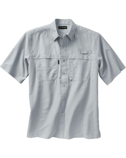 Dri Duck Men's Catch Short Sleeve Shirt - 3X & 4X, Grey, hi-res