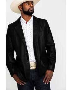 Cody James Men's Black Suede Blazer Jacket - Big & Tall , Black, hi-res