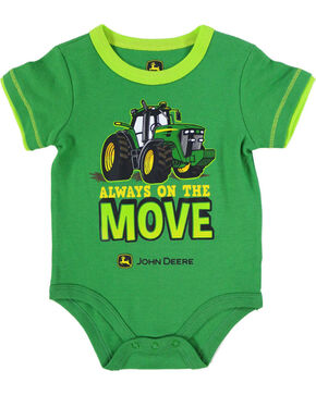 John Deere Infant Boys' Green Always On The Move Onesie , Green, hi-res