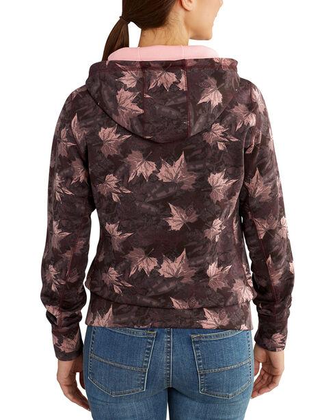 Carhartt Women's Burgundy Force Extremes Printed Sweatshirt , Burgundy, hi-res