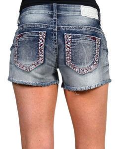 Shyanne Women's Americana Cutoff Shorts, Blue, hi-res