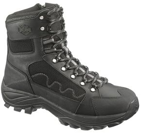 Harley Davidson Roland Men's Lace-up Boots - Round Toe, Black, hi-res