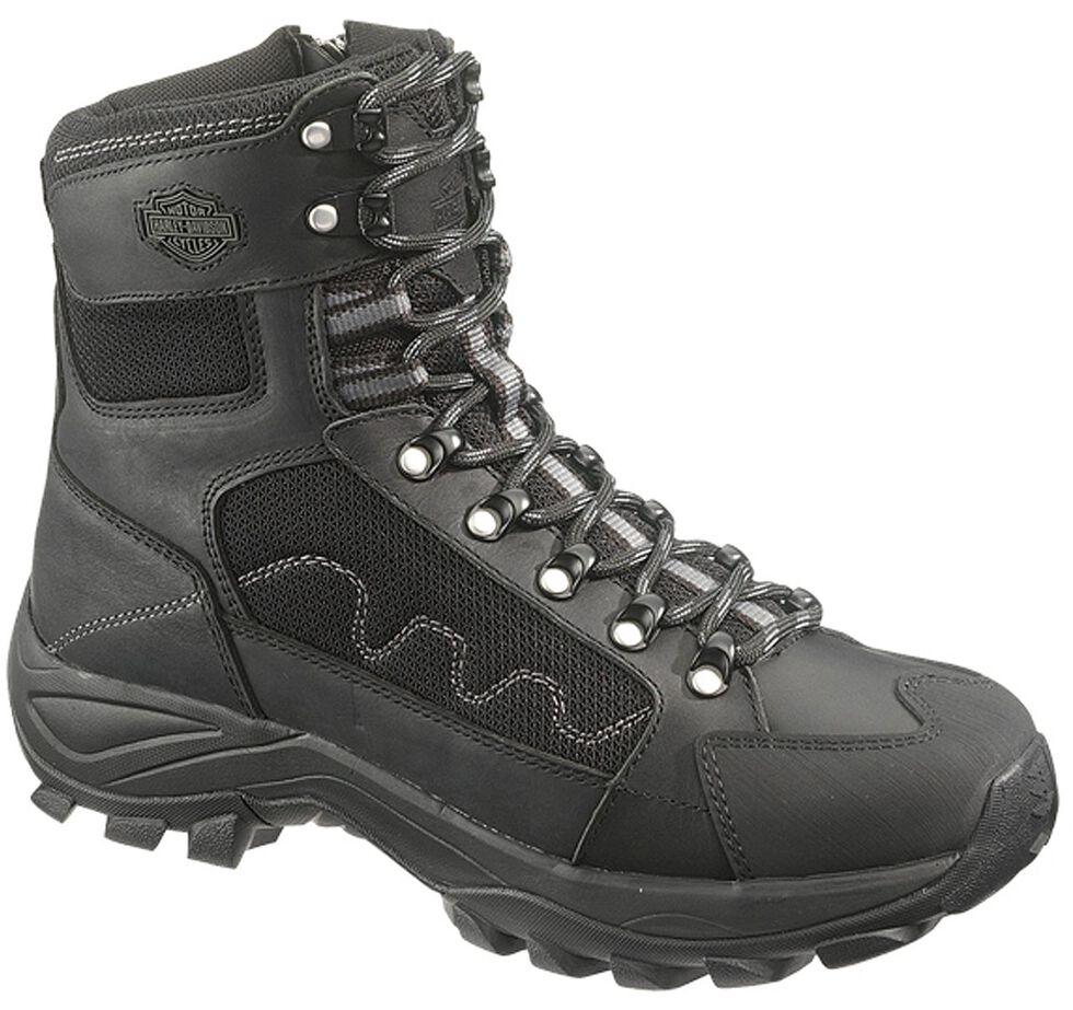 Harley Davidson Roland Men's Lace-up Boots - Round Toe, Black, hi-res