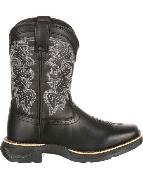 Durango Youth Boys' Black Stockman Western Boots - Square Toe , Black, hi-res