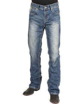 Stetson Men's Rocker Fit Boot Cut Jeans, Blue, hi-res