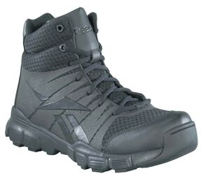 Reebok Men's Dauntless Tactical Side-Zip Work Boots, Black, hi-res