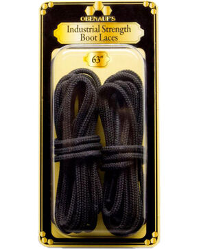 "Obenauf's Industrial Strength 63"" Boot Laces, Black, hi-res"