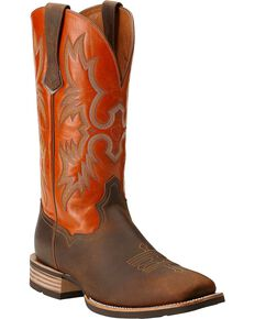 Ariat Tombstone Western Boots - Square Toe, Brown, hi-res