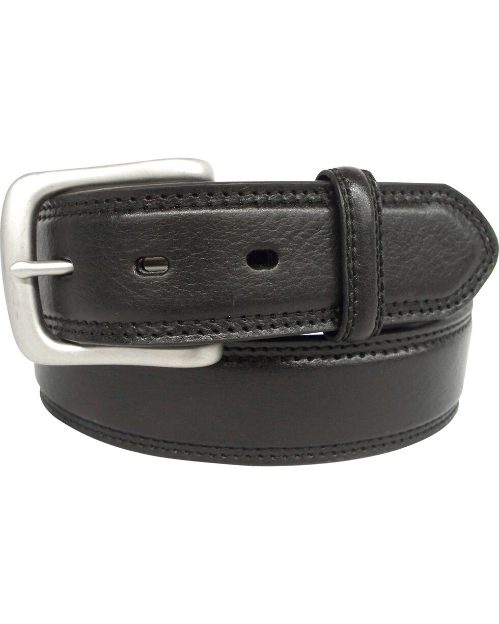 G Bar D Men's Black Grain Leather Belt , Black, hi-res