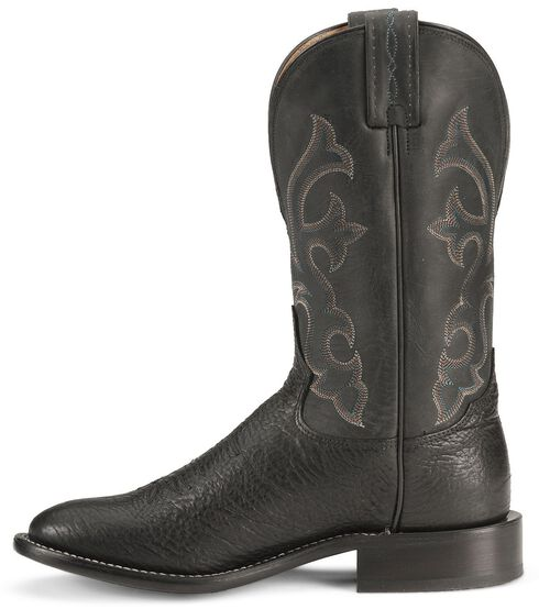 "Tony Lama 11"" Conquistador Shoulder Boots - Round Toe, Black, hi-res"