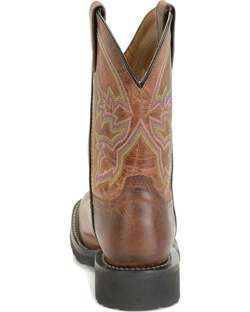 Double H Women's Brown Super-Lite Work Boots - Square Toe , Brown, hi-res