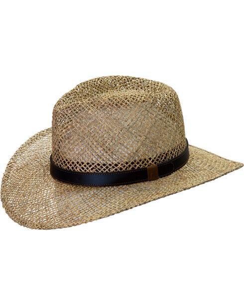 Black Creek Men's Seagrass Straw Hat, Natural, hi-res