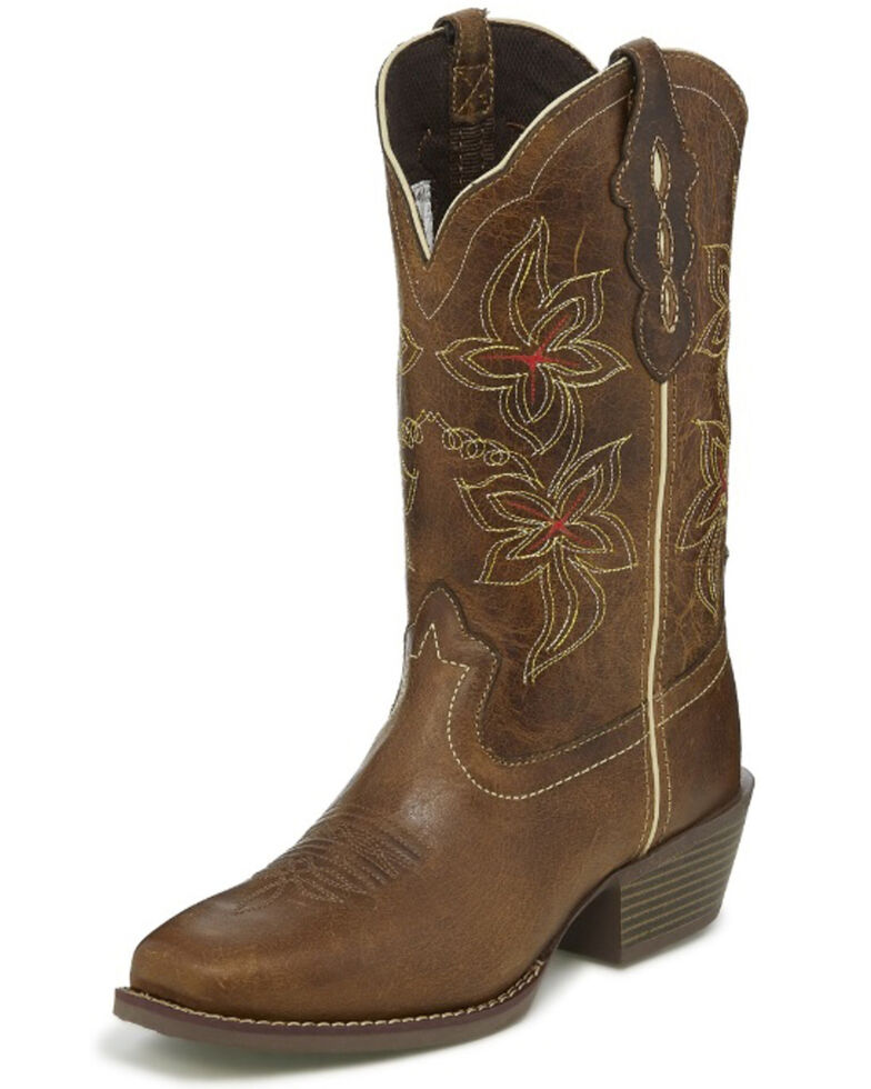 Justin Women's Jungle Western Boots - Square Toe, Brown, hi-res
