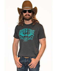 Dale Brisby Men's Rodeo Time Graphic T-Shirt , Charcoal, hi-res