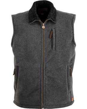 Outback Trading Co. Summit Fleece Vest, Charcoal, hi-res