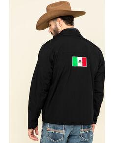 Ariat Men's Black Mexico Flag Team Softshell Jacket , Black, hi-res