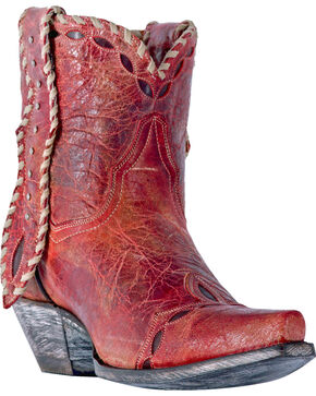 Dan Post Women's Livie Red Short Boots - Snip Toe, Red, hi-res