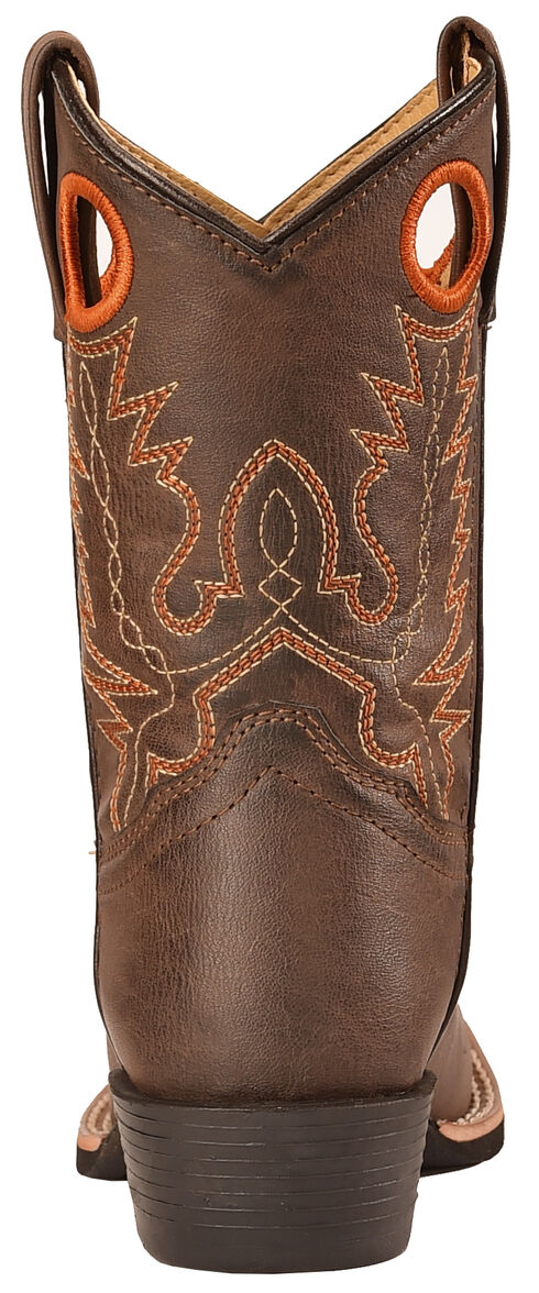 Swift Creek Boy's Brown Cowboy Boots - Square Toe, Brown, hi-res