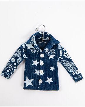 BB Ranch Denim Shirt Ornament, Blue, hi-res