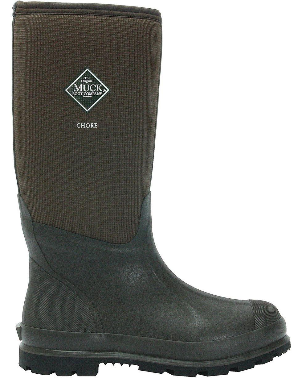 Muck Boots Chore Cool Hi Work Boots, Brown, hi-res