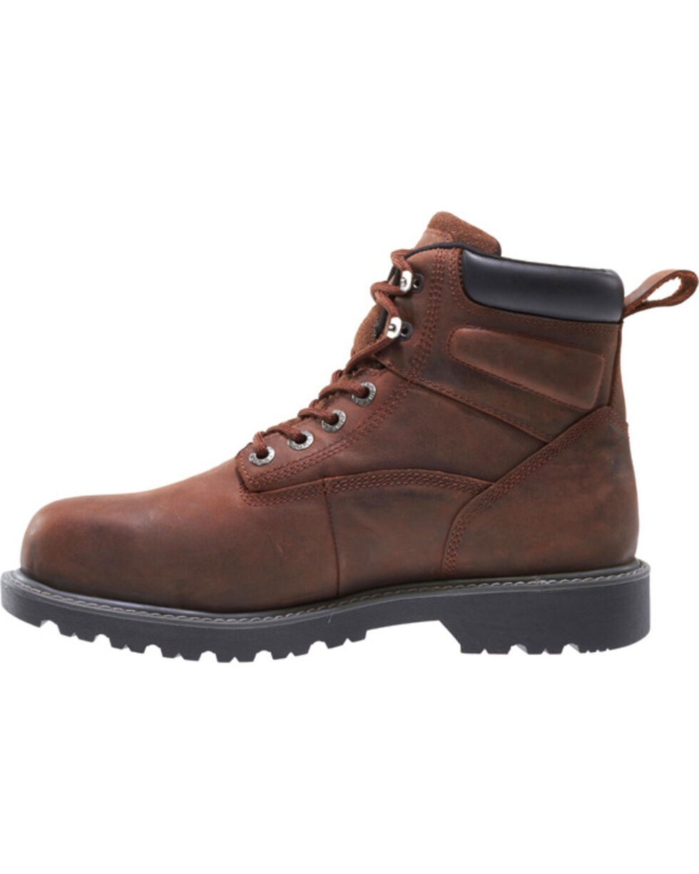 "Wolverine Men's Floorhand Waterproof 6"" Work Boots, Dark Brown, hi-res"