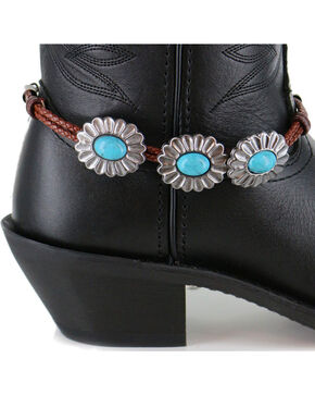 Shyanne Women's Turquoise Concho Boot Bracelet, Brown, hi-res