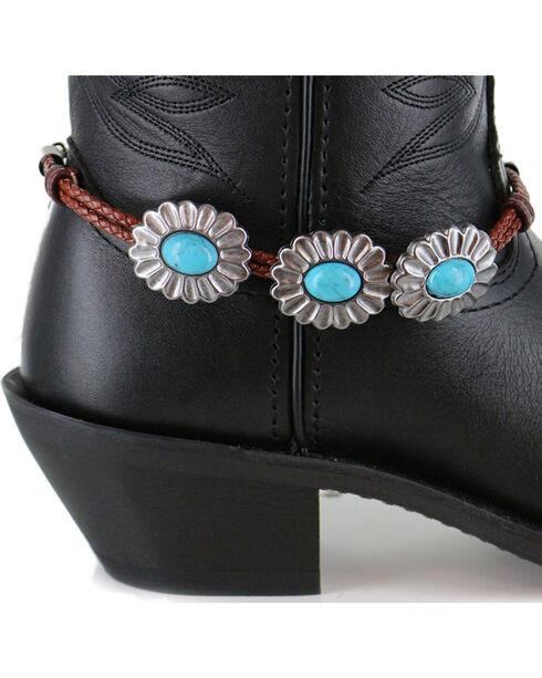 Shyanne Women's Turquoise Concho Boot Bracelet, Brown, hi-res