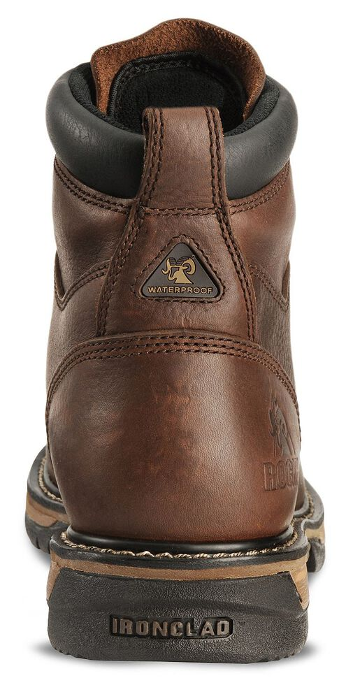 """Rocky IronClad 6"""" Waterproof Lace-Up Work Boots - Round Toe, Bridle Brn, hi-res"""