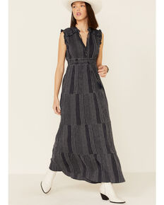 Ariat Women's Striped Carly Dress, Navy, hi-res