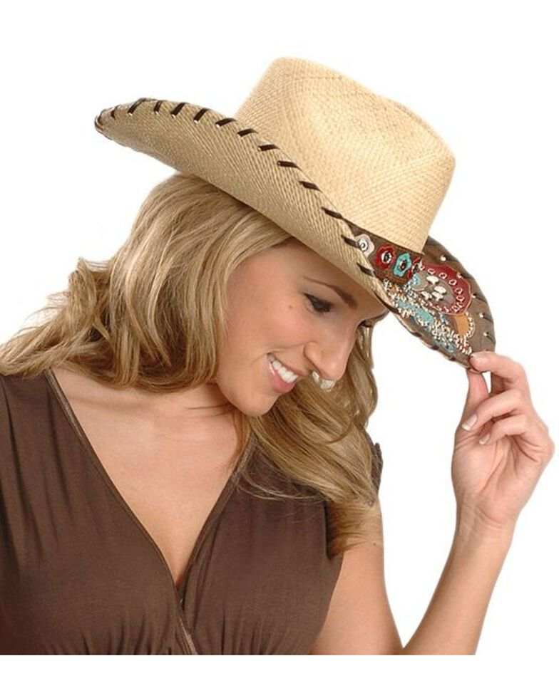 Bullhide Gypsy Queen Straw Cowgirl Hat, Natural, hi-res
