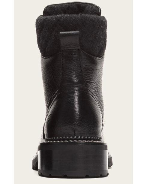Frye Women's Black Samantha Hiker Boots - Round Toe , Black, hi-res