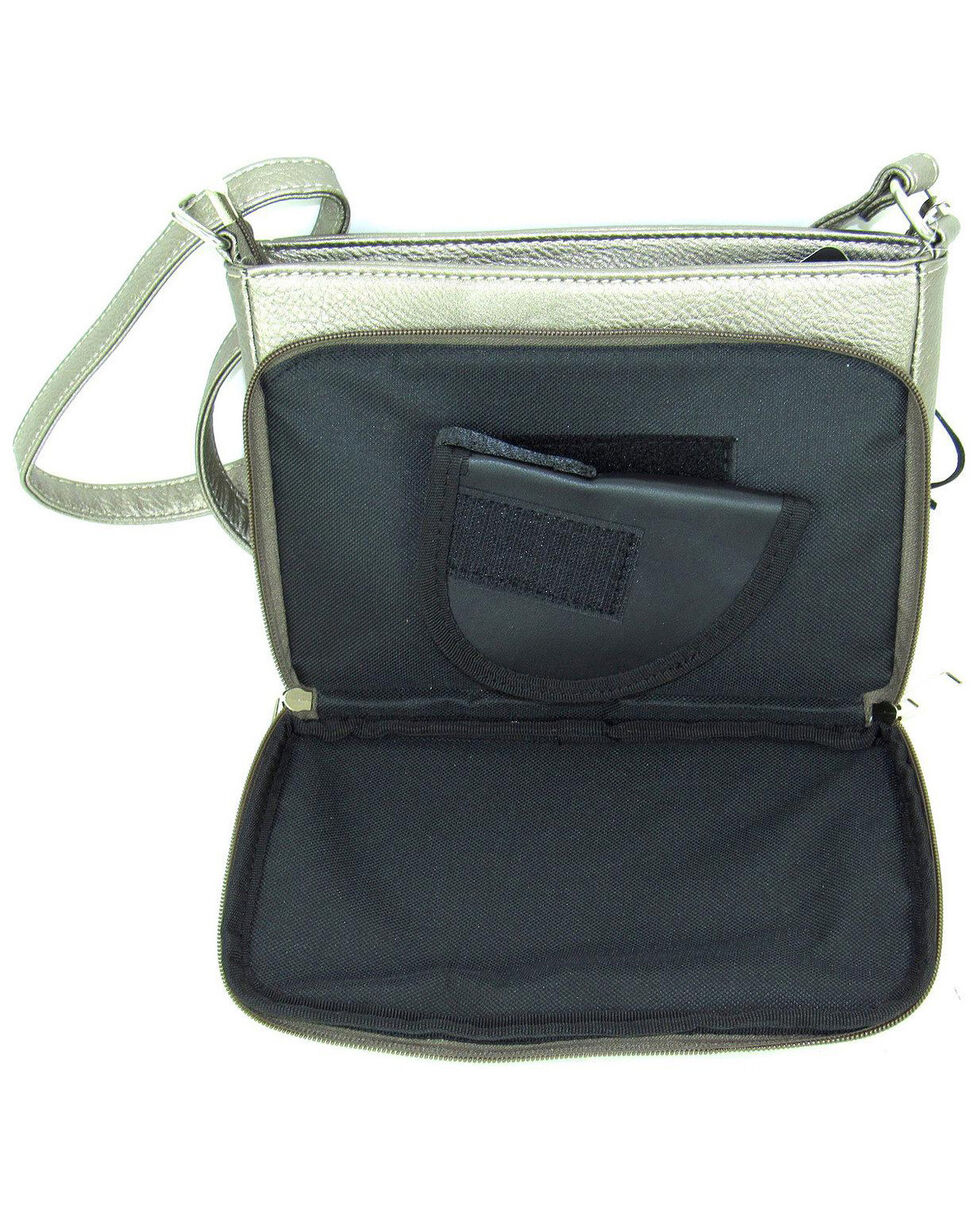 Savana Women's Professional Carry Embellished Crossbody Purse , Pewter, hi-res