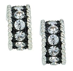 Montana Silversmiths Rhinestone Ring Earrings, Silver, hi-res