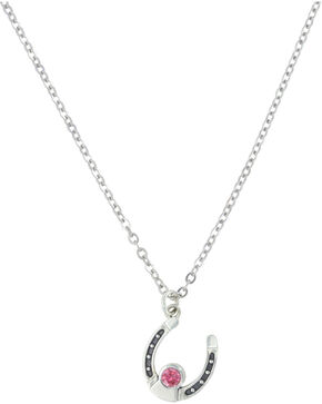Sterling Lane Women's October Birthstone Necklace , Silver, hi-res