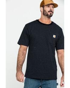 Carhartt Men's Striped Short Sleeve Work T-Shirt , Black, hi-res