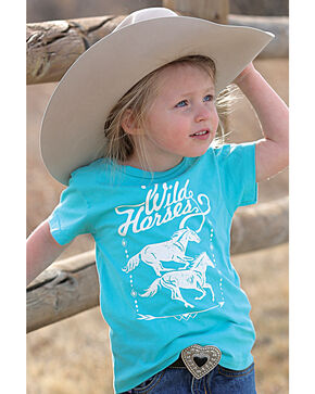 Cruel Girl Toddler Girls' Blue Wild Horses Tee , Blue, hi-res