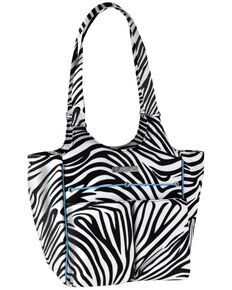 Ariat Women's Carry All Zebra Tote Bag, Zebra, hi-res