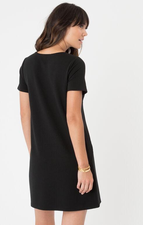 Z Supply Chloe Ponte Dress, Black, hi-res
