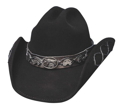 Bullhide Jesse Premium Wool Cowboy Hat, Black, hi-res