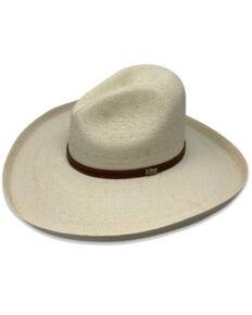 Atwood Hat Co. White La Ranchera Palm Leaf Straw Western Hat , White, hi-res
