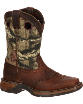 Lil' Durango Boys' Camo Saddle Western Boots - Square Toe , Camouflage, hi-res