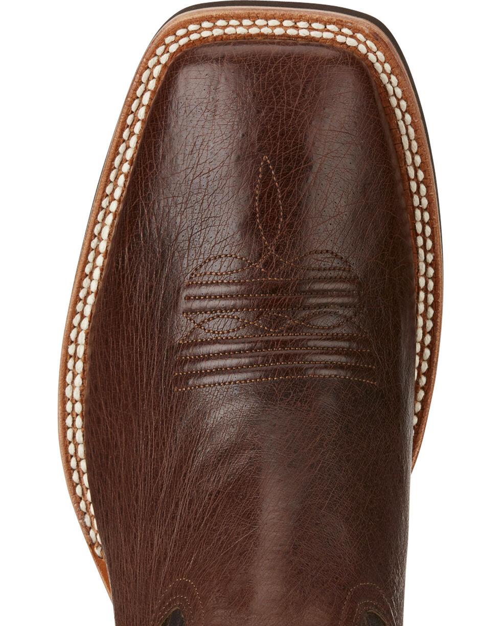 Ariat Men's Quantum Brander Crepe Cowboy Boots - Square Toe, Dark Brown, hi-res
