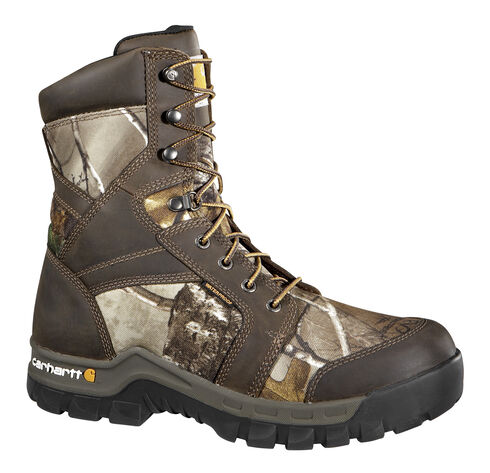 """Carhartt Men's 8"""" Rugged Flex Waterproof Insulated Composite Toe Camo Work Boots, Camouflage, hi-res"""