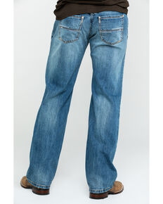 Rock & Roll Cowboy Men's Pistol Vintage Med Stretch Straight Jeans , Blue, hi-res