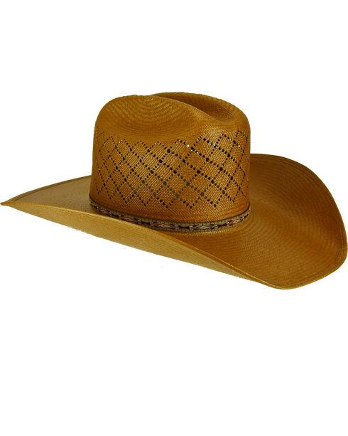 Bailey Men's Ruger II 15X Straw Western Hat, Brown, hi-res